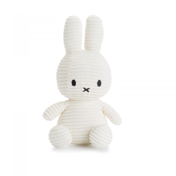 Miffy Hase Cord 23cm weiß