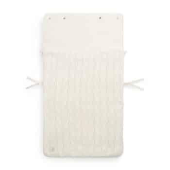 Fußsack 'Spring Knit' gestrickt in Ivory von Jollein