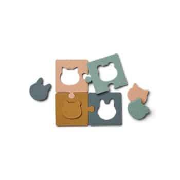 Puzzle aus Silikon Tiere in multi mix von Liewood