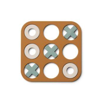 Tic Tac Toe Spiel aus Silikon von Liewood in Karamell