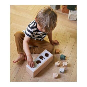 Puzzle Box Steckspiel aus Holz mit Tieren von Liewood